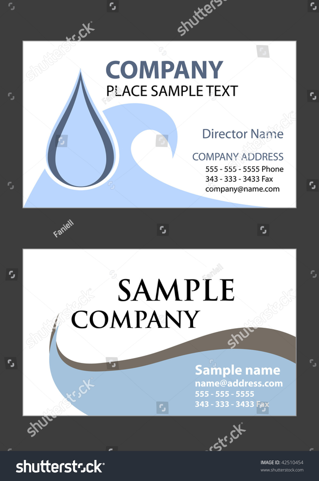 2 samples business card design vector stock vector 42510454 2 samples of business card design in vector format magicingreecefo Gallery