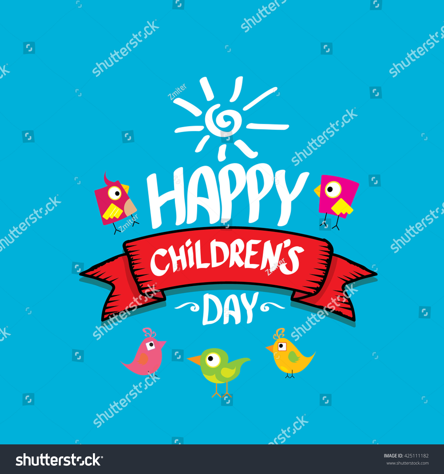1 June International Childrens Day Background Stock Vector Royalty