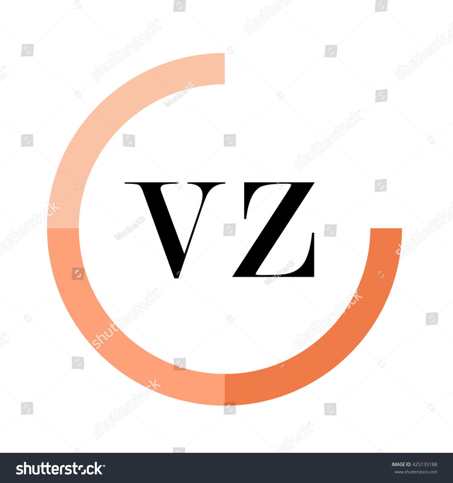 Vz business logo icon design template stock vector 425135188 vz business logo icon design template elements orange color vectors design identity in circle biocorpaavc Image collections