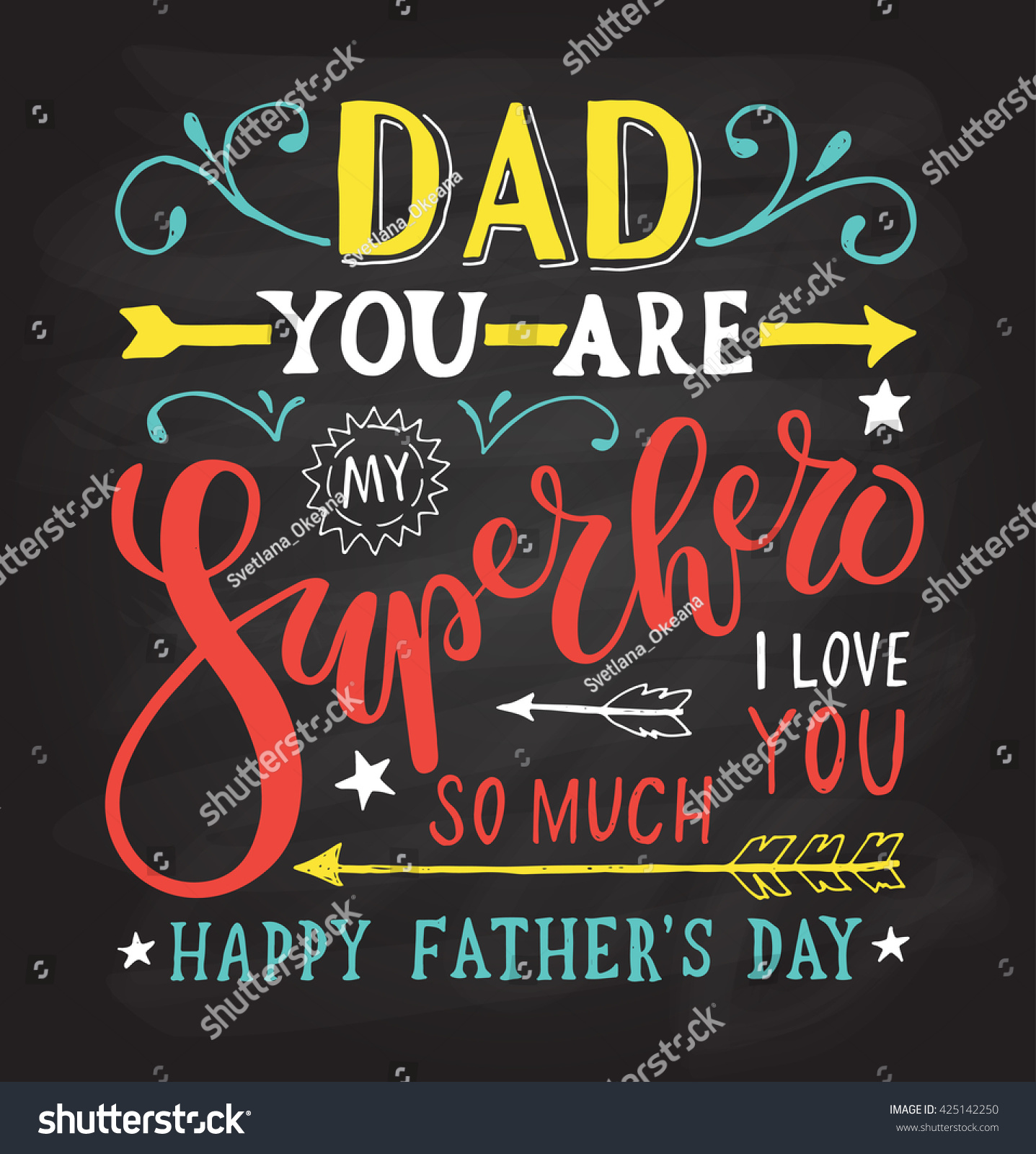 hand drawn typography poster dad you stock vector 425142250 shutterstock