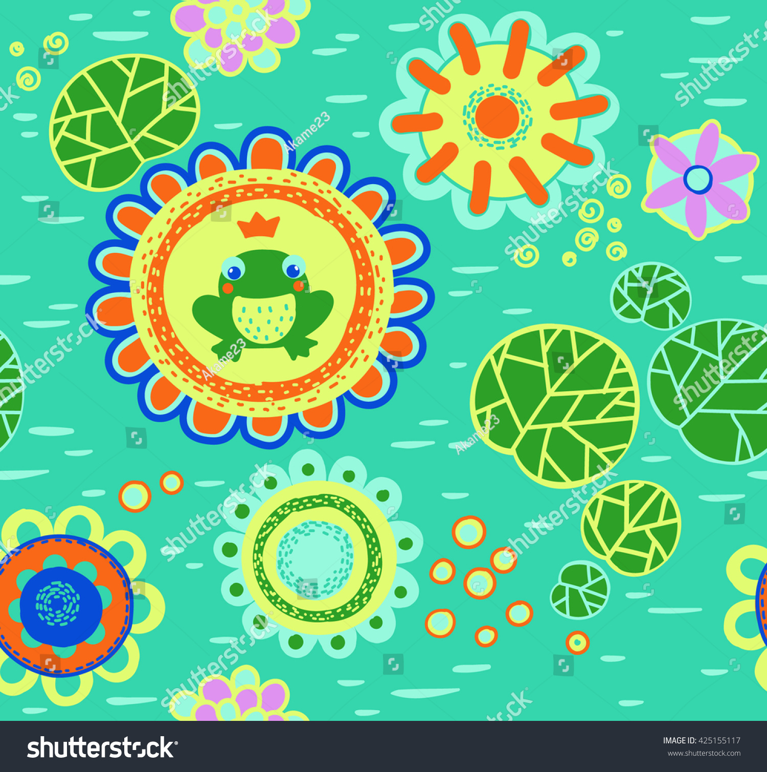 Little green frog sitting on flower stock photo photo vector the little green frog sitting on a flower vector background frog prince sitting on a izmirmasajfo Image collections