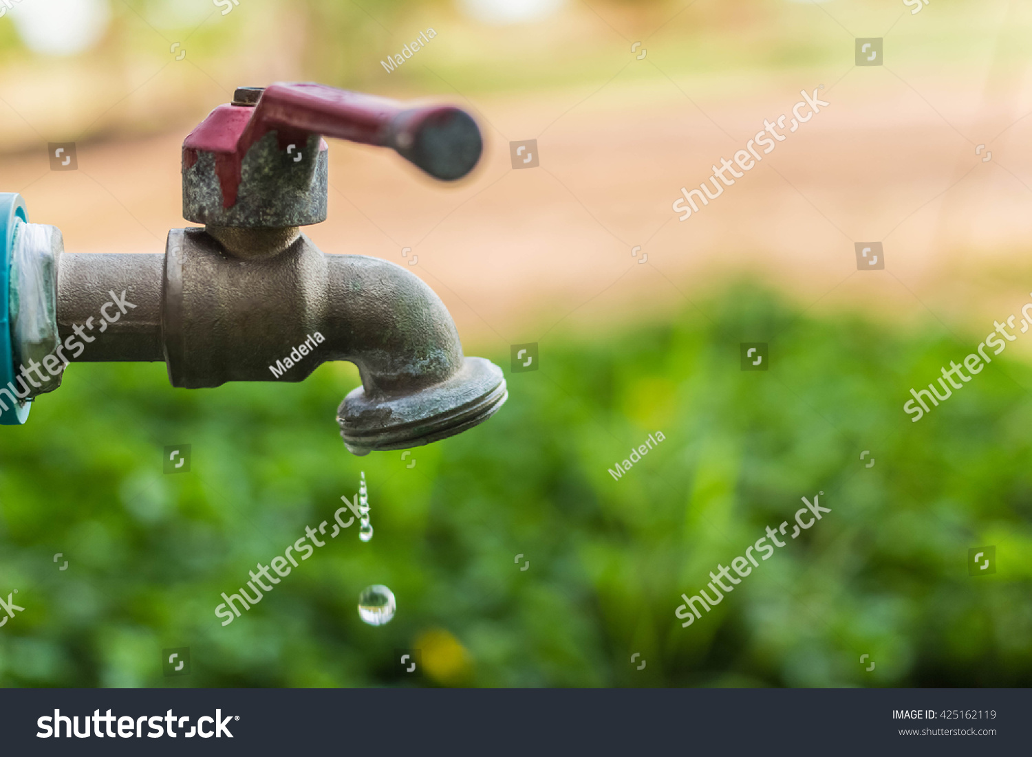 Defective Faucet Cause Wastage Water Old Stock Photo (Download Now ...