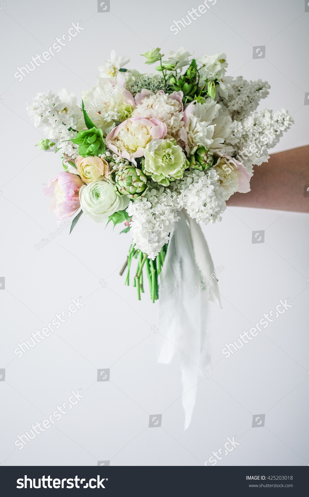 Wedding Bouquet Wedding Bouquet Green Flowers Stock Photo Edit Now