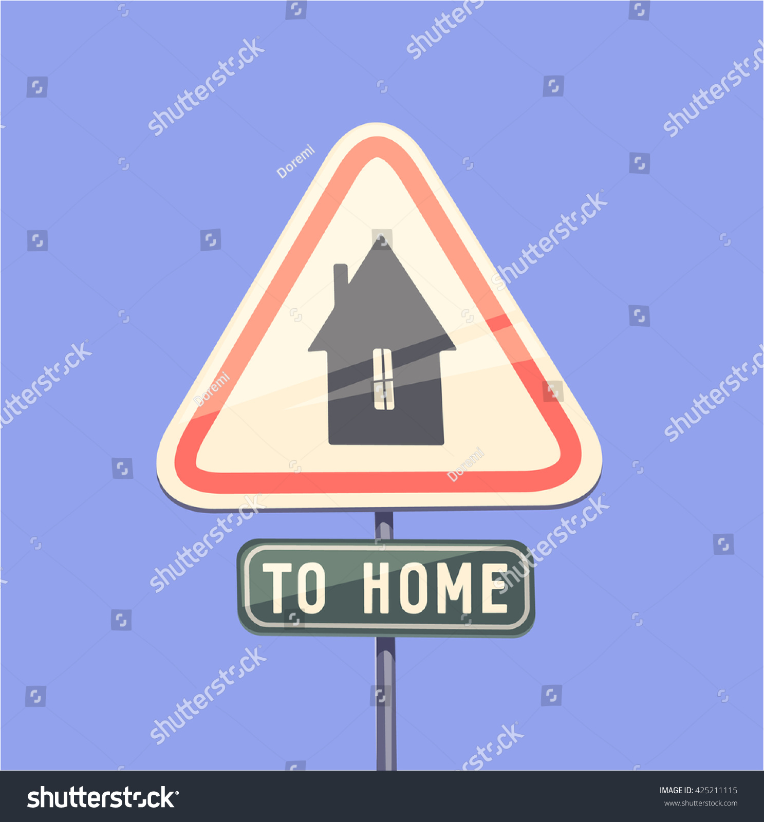 Way Home Concept Vector Illustration Stock Vector