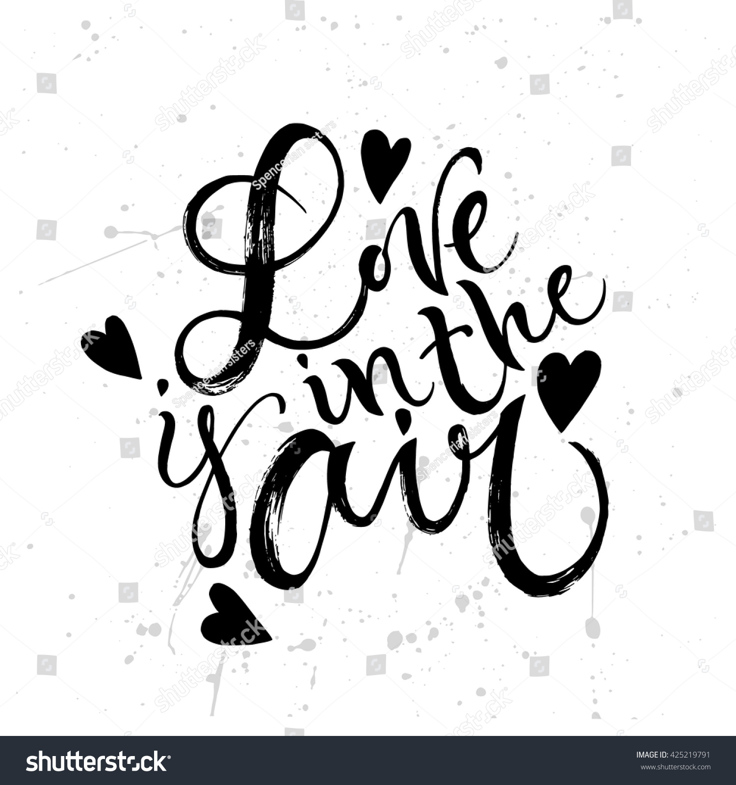 Love Air Card Template Hand Drawn Stock Vector 425219791