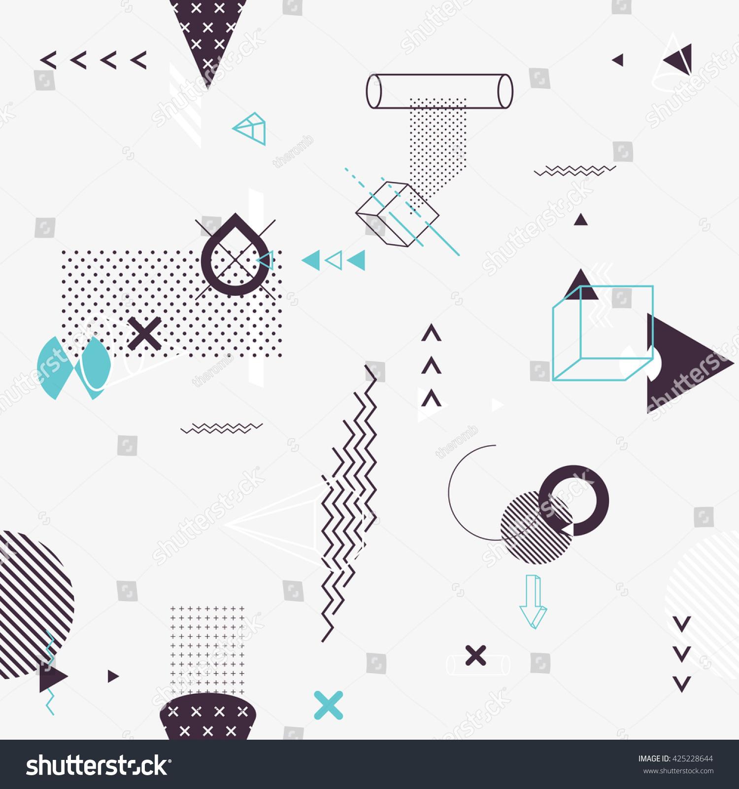 Seamless background of geometric elements #425228644