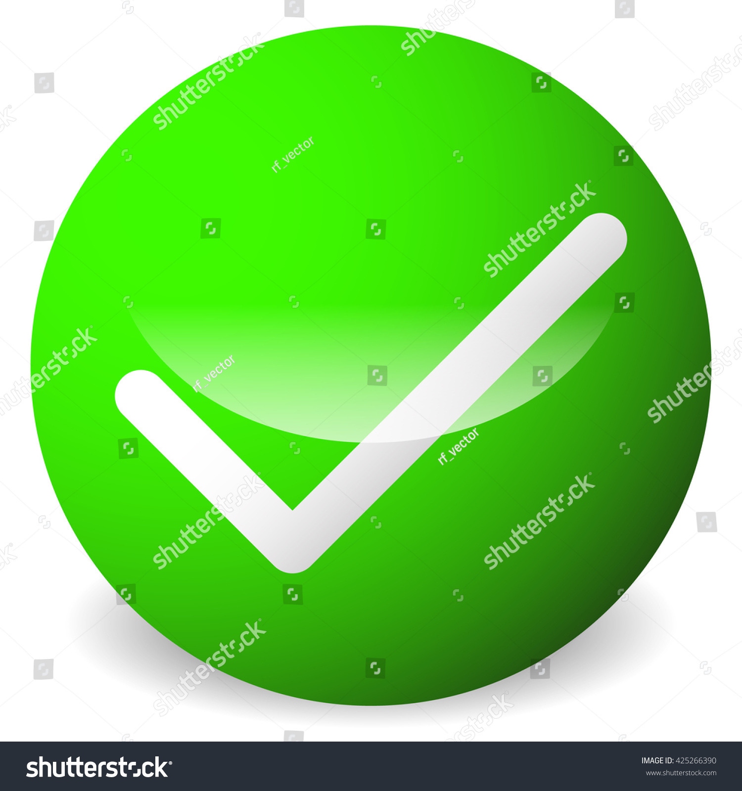 Royalty Free Stock Illustration Of Circle Tick Check Mark Symbol
