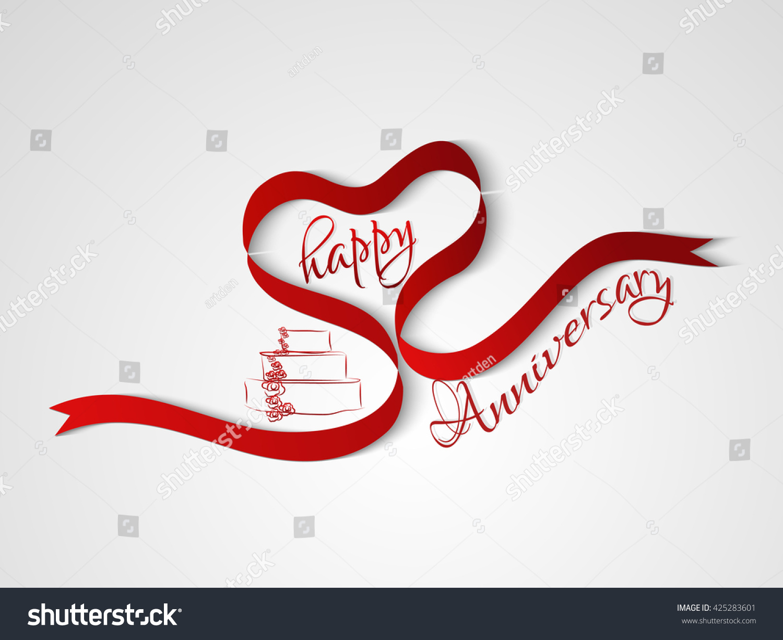 Creative vector abstract happy anniversary celebration stock