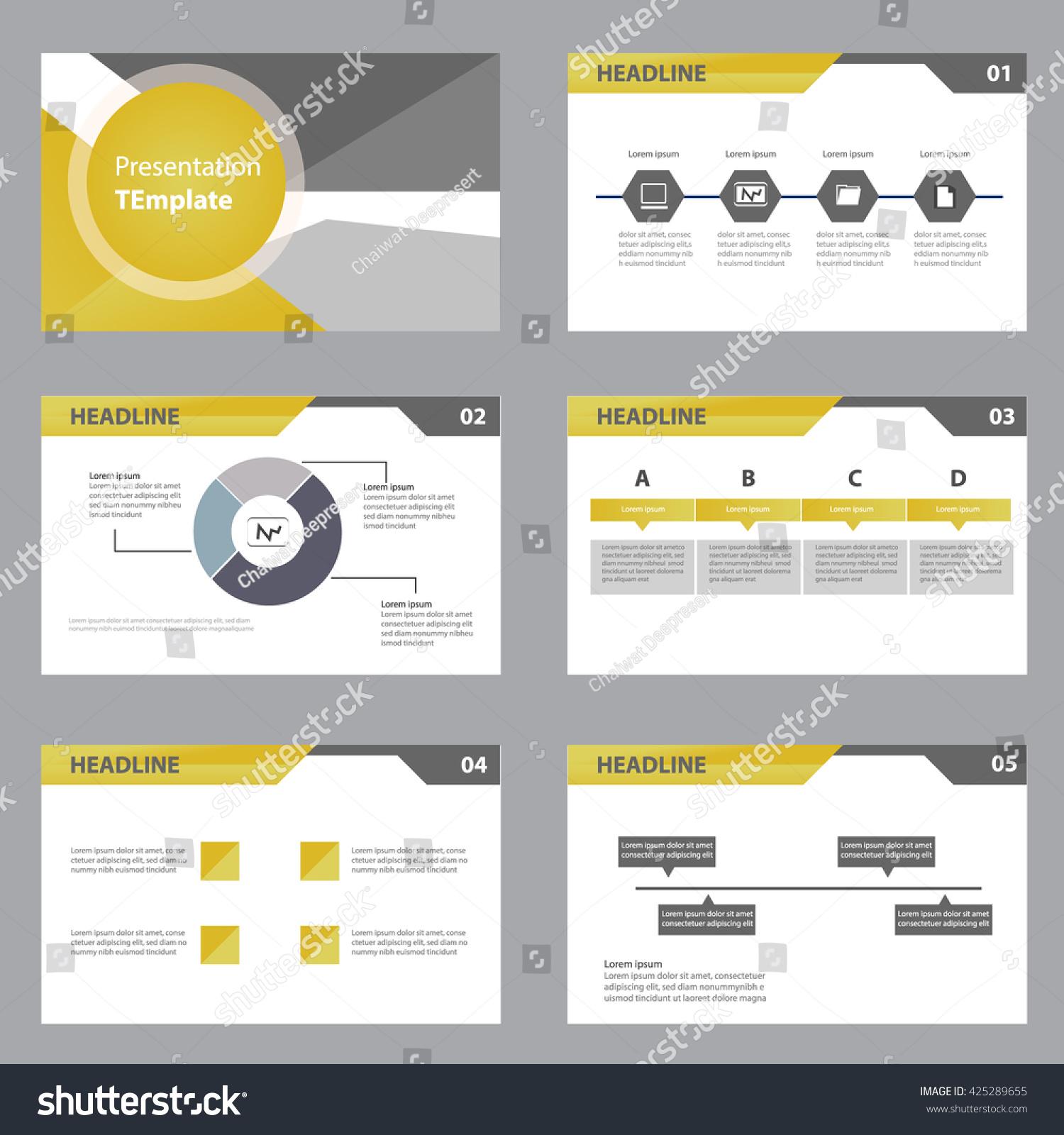 Vector Business Presentation Slides Template Graphs Stock Vector ...