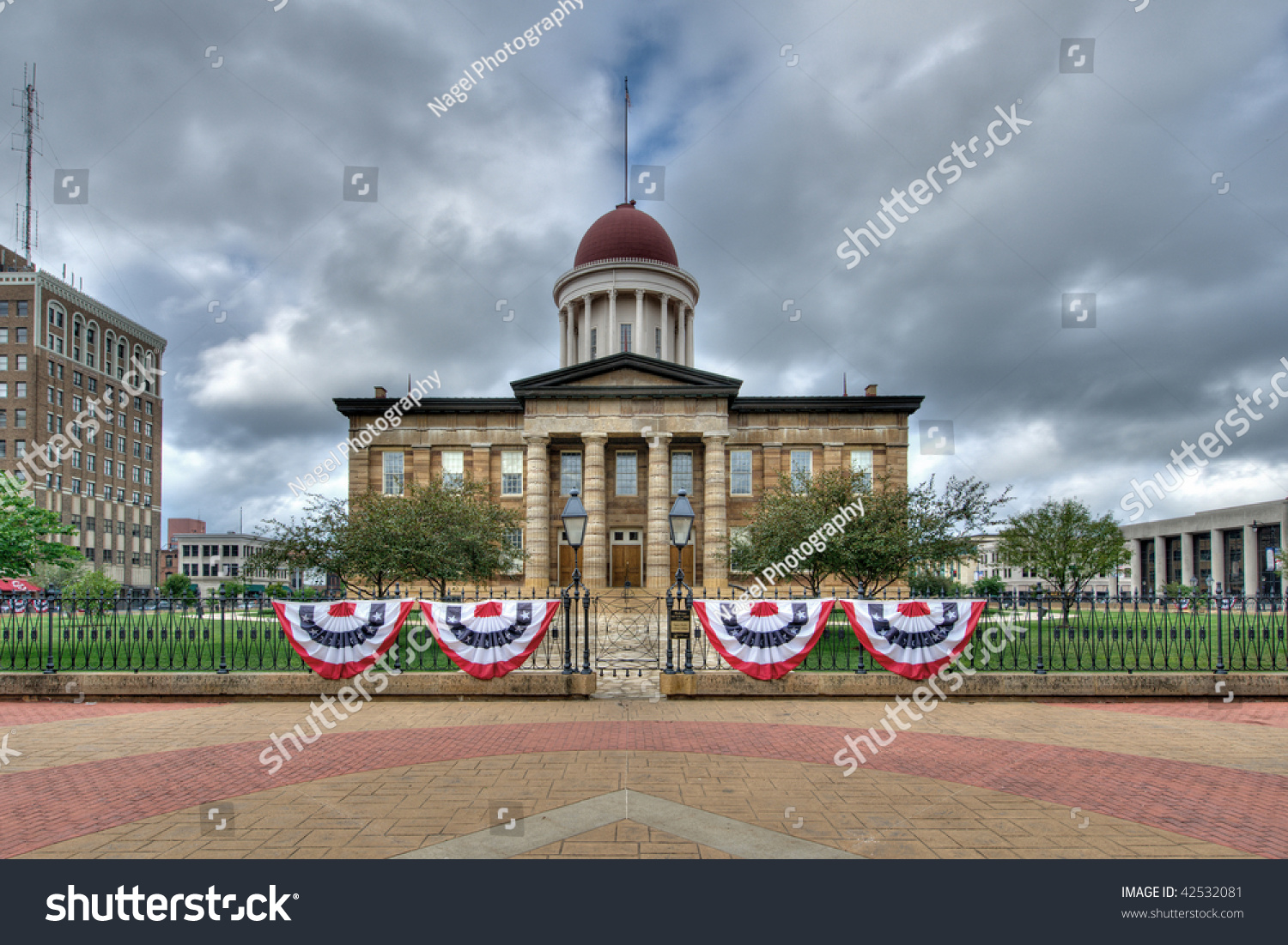 Old State Capitol Building Springfield Illinois Stock Photo 42532081 Shutterstock