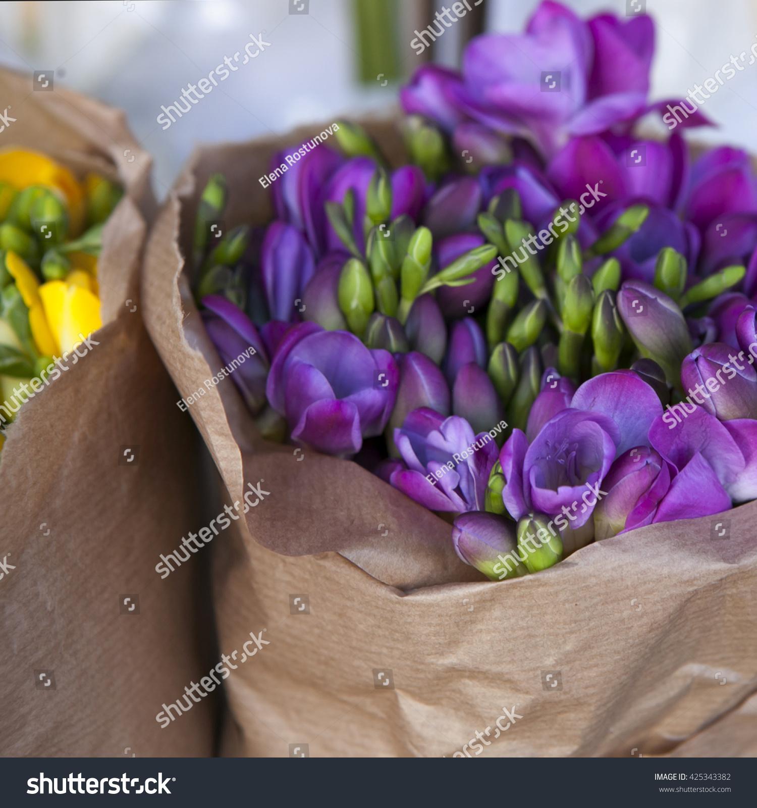 Beautiful freesia flowers bouquet ez canvas id 425343382 izmirmasajfo