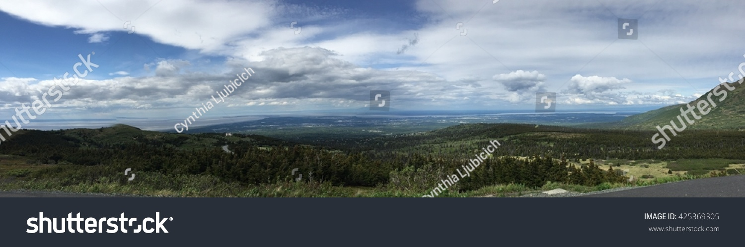 Panorama From Flattop Mountain, Alaska Stock Photo ... Ljubicich