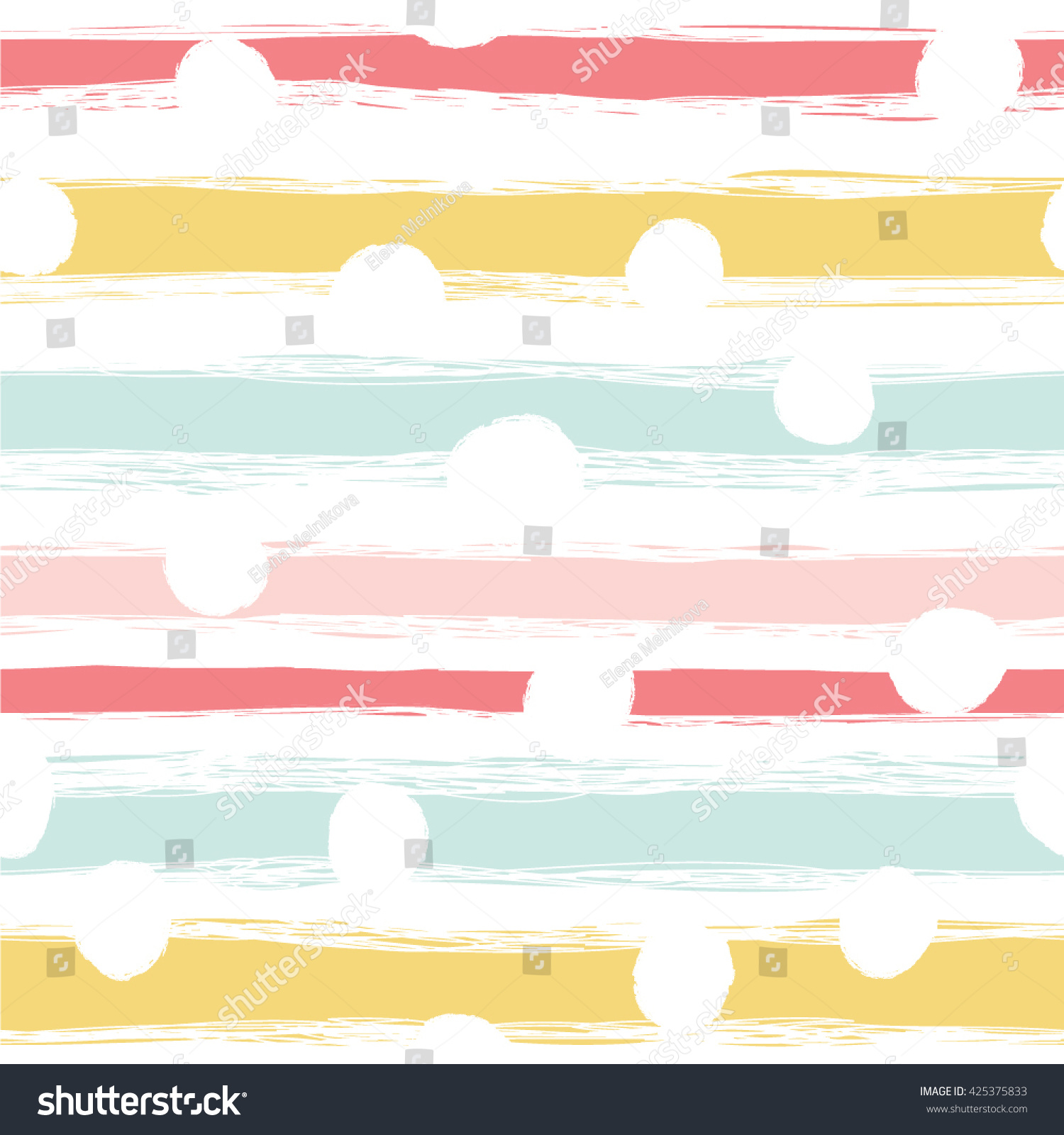 Simple Pattern Stripes Pastel Colors Background Stock Vector