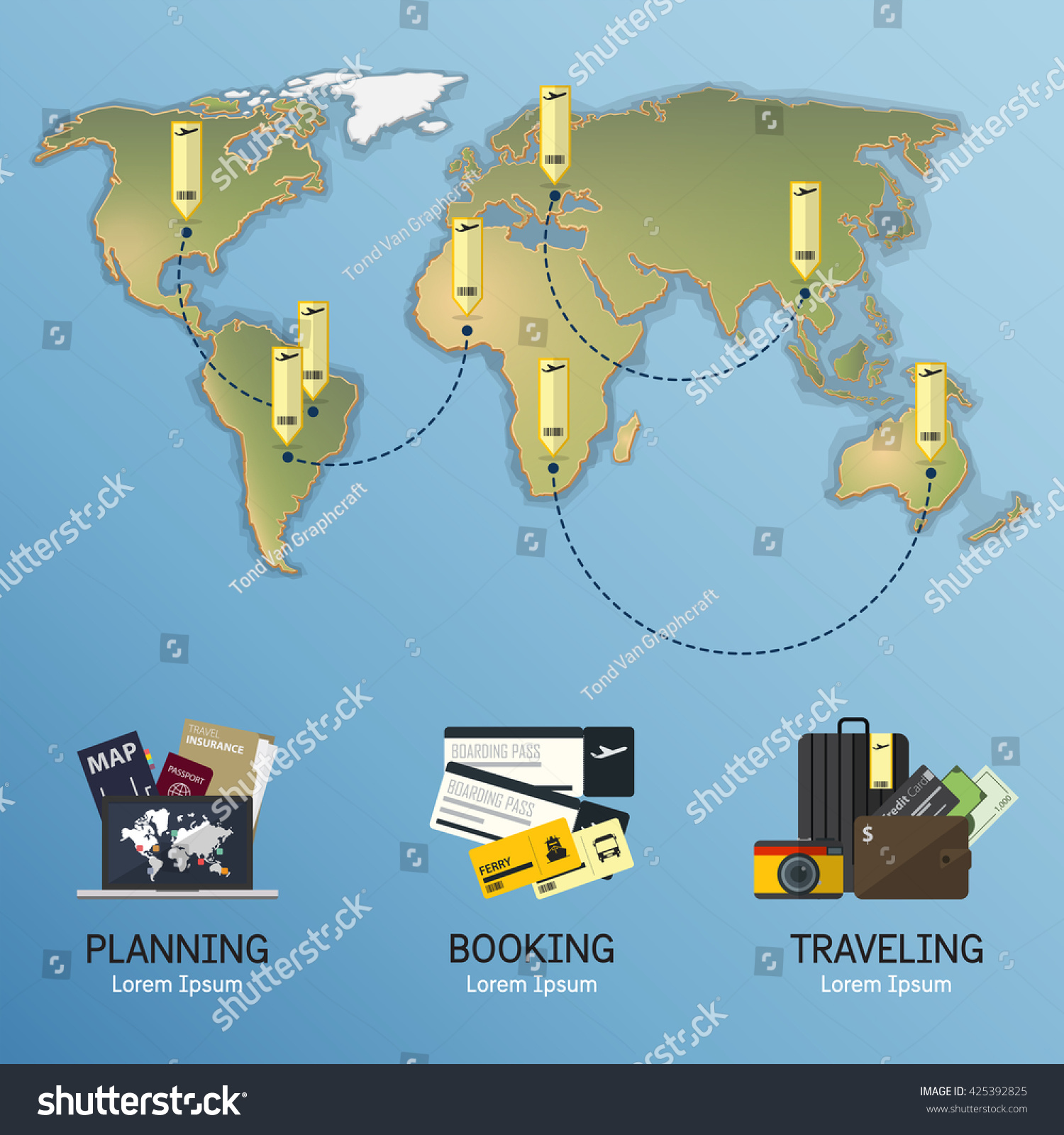 The Concept Of Infographic For Travel Planning Infographic – World Map For Travel Planning