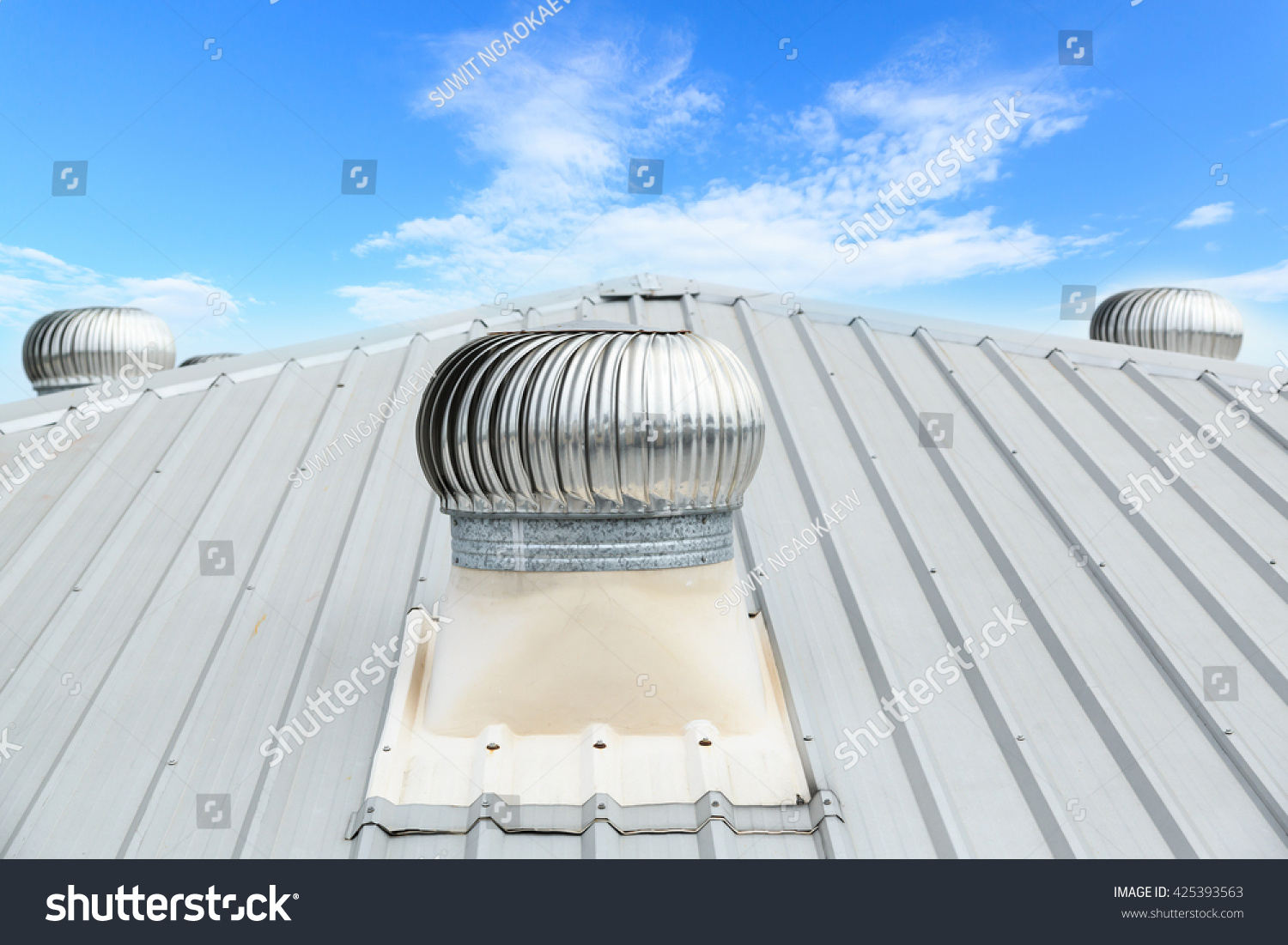 air ventilator on roof factory stock photo 425393563 - shutterstock