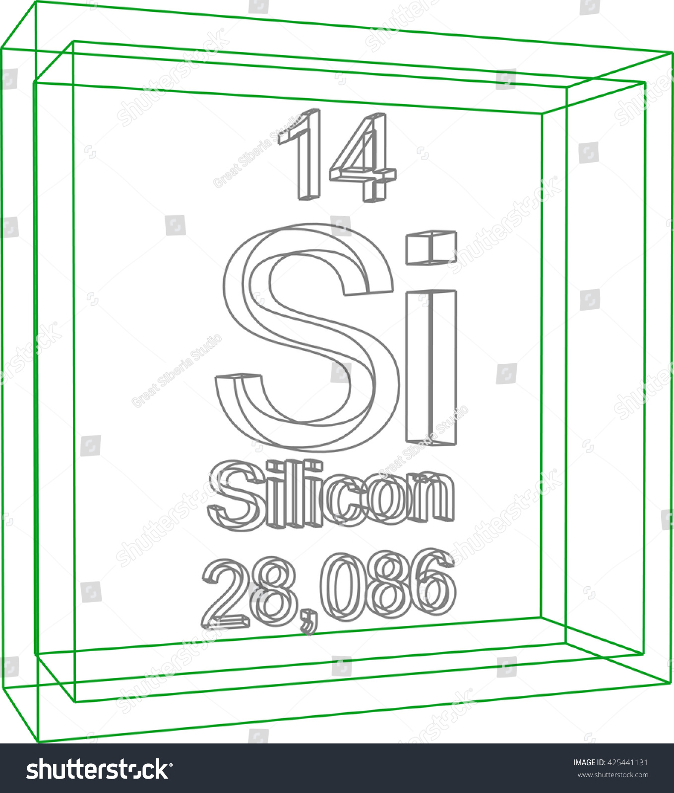 Periodic table elements silicon stock vector 425441131 shutterstock periodic table of elements silicon biocorpaavc Gallery
