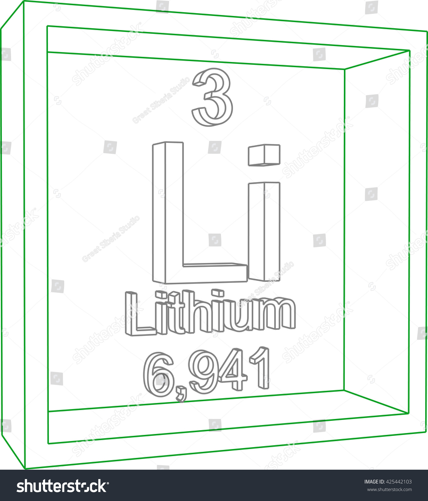 Periodic table elements lithium stock vector 425442103 shutterstock periodic table of elements lithium urtaz Gallery