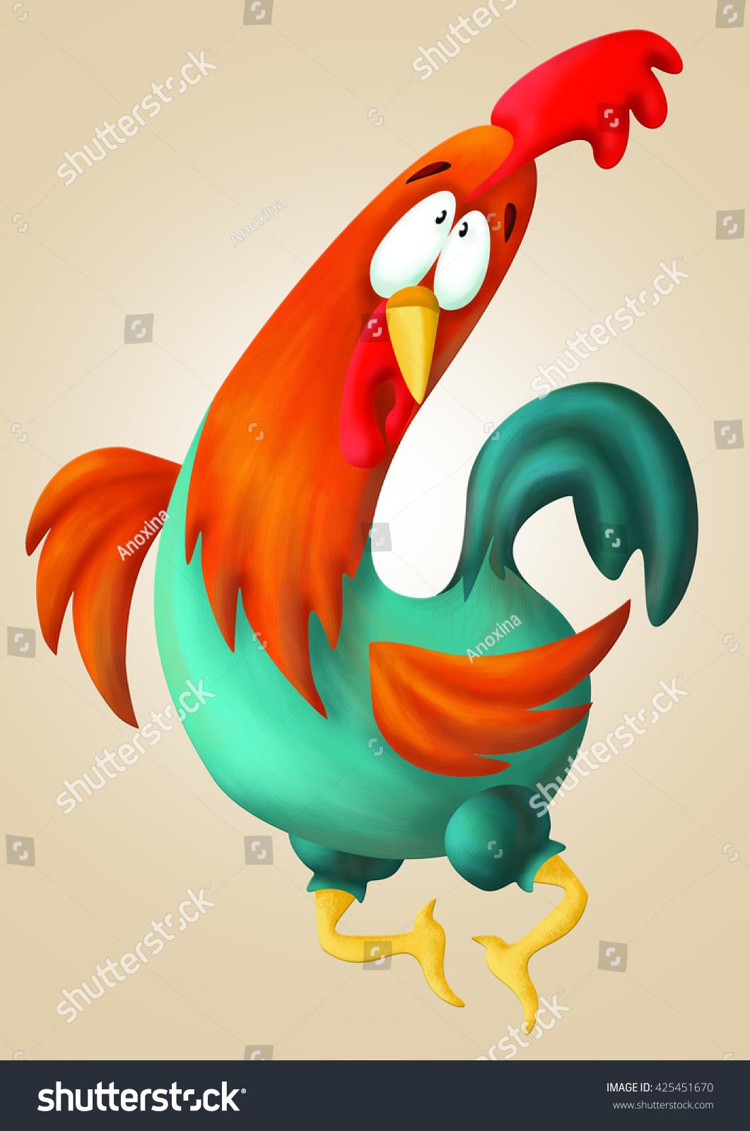 Funny Cock Pics funny cock stock illustration 425451670