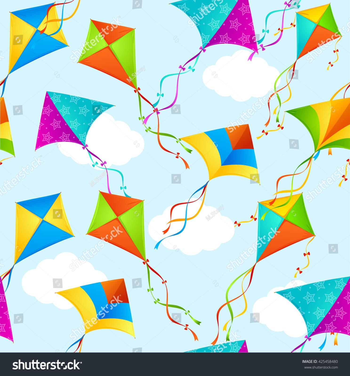 Kite background pattern seamless on sky stock illustration kite background pattern seamless on sky illustration biocorpaavc
