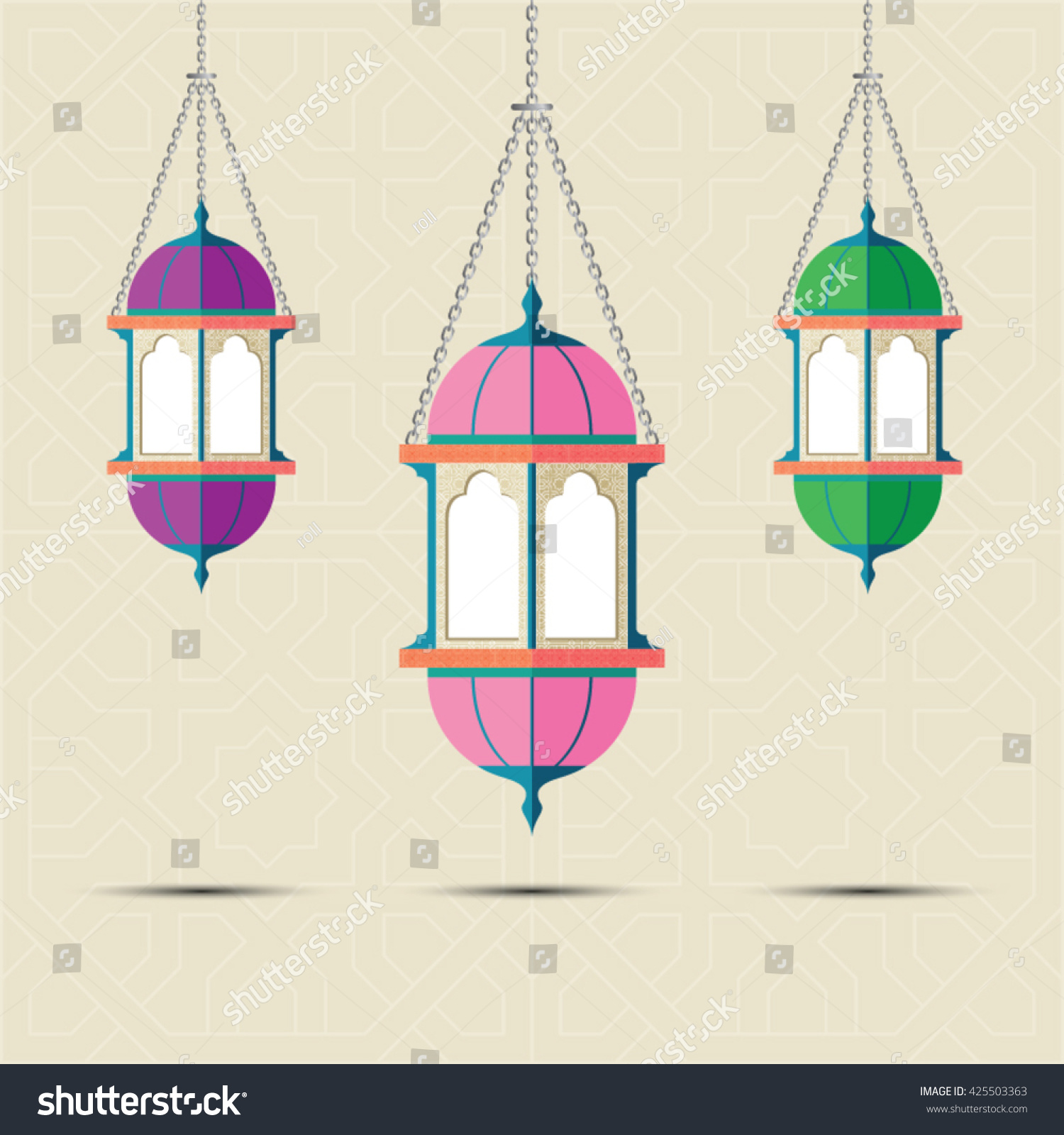 illustration depositphotos vector arabic lamp intricate stock