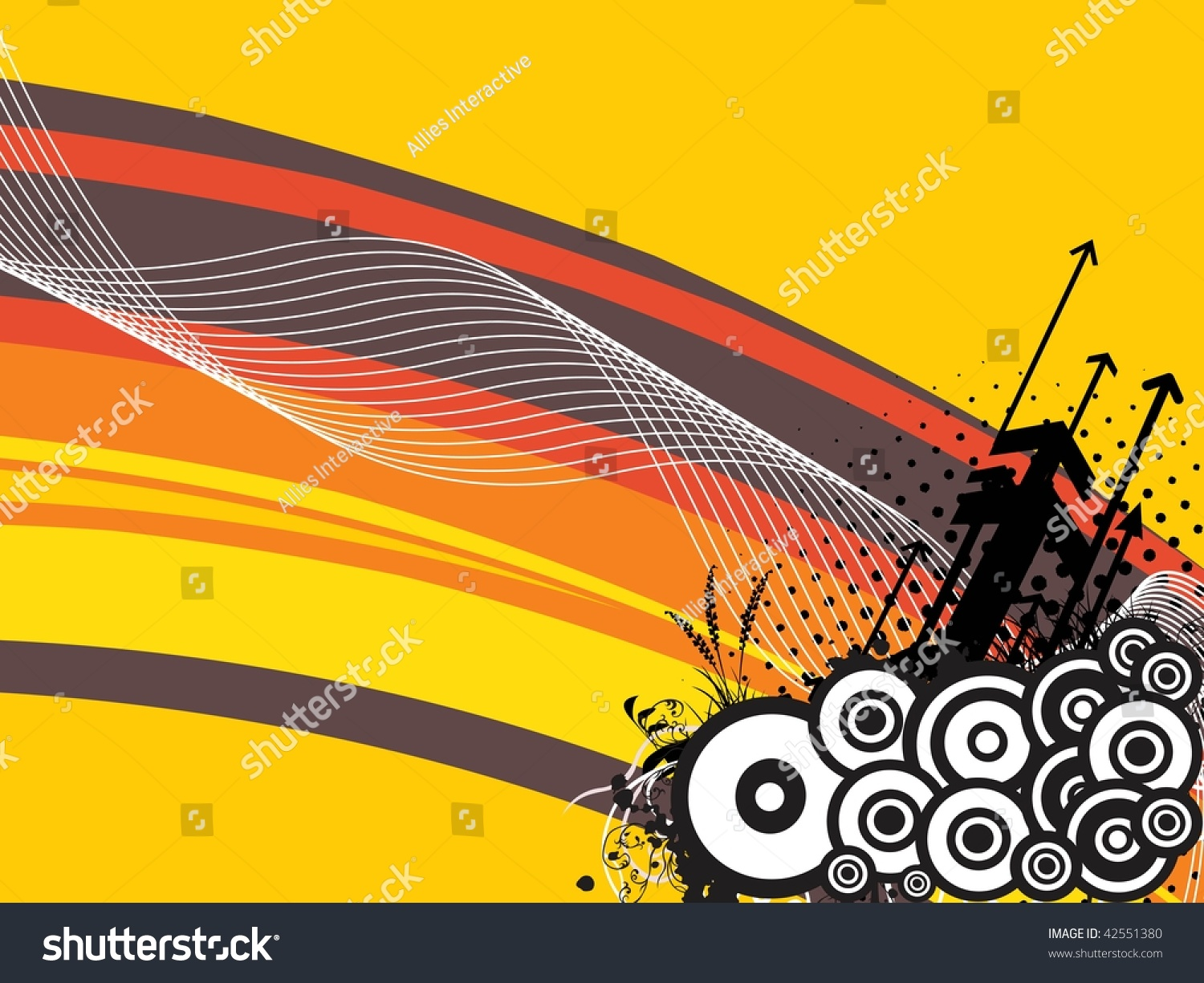Abstract Grungy Background Volleyball Arrowhead Stock: Abstract Wave Background Grungy Circle Black Stock Vector