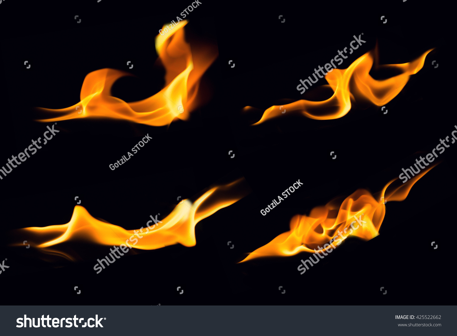 fire flames on black backgroundflames fire stock photo 425522662