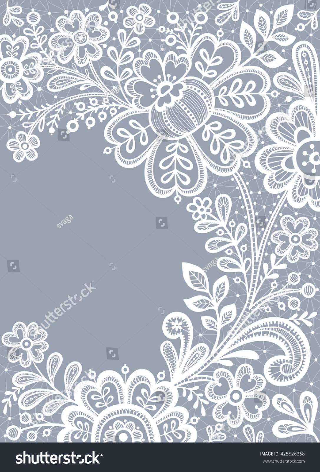 White Lace Floral Background Lace Wedding Stock Vector HD (Royalty ...