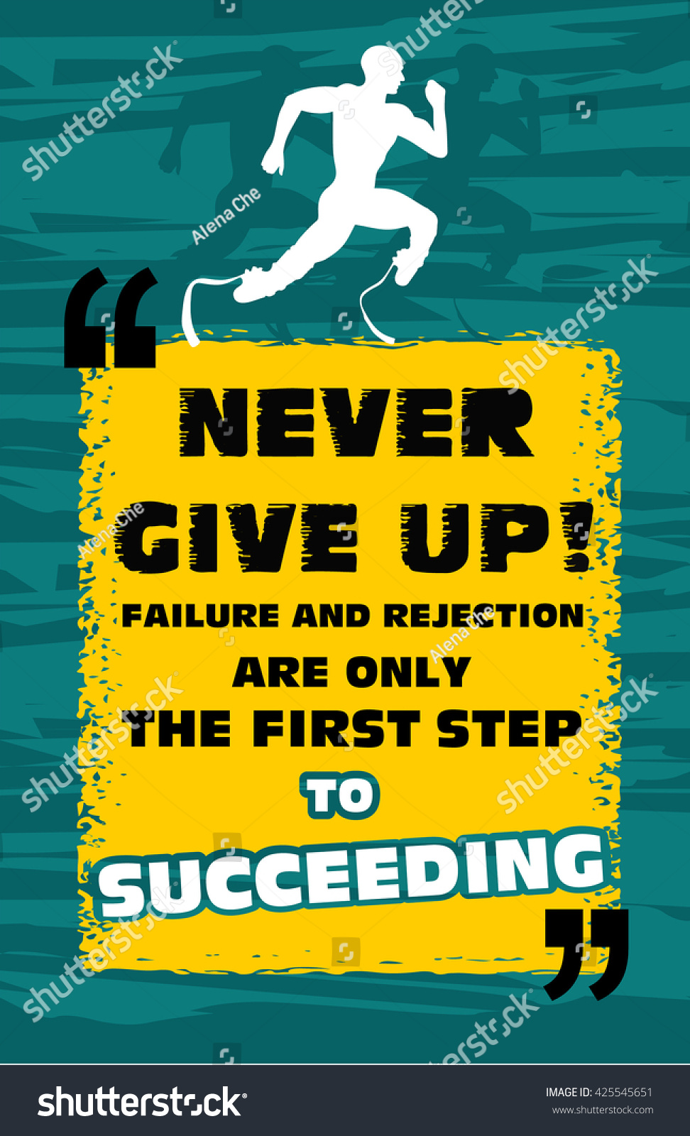 Quotes Never Give Up Motivation Quote Disabled Athletenever Give Up Stock Vector