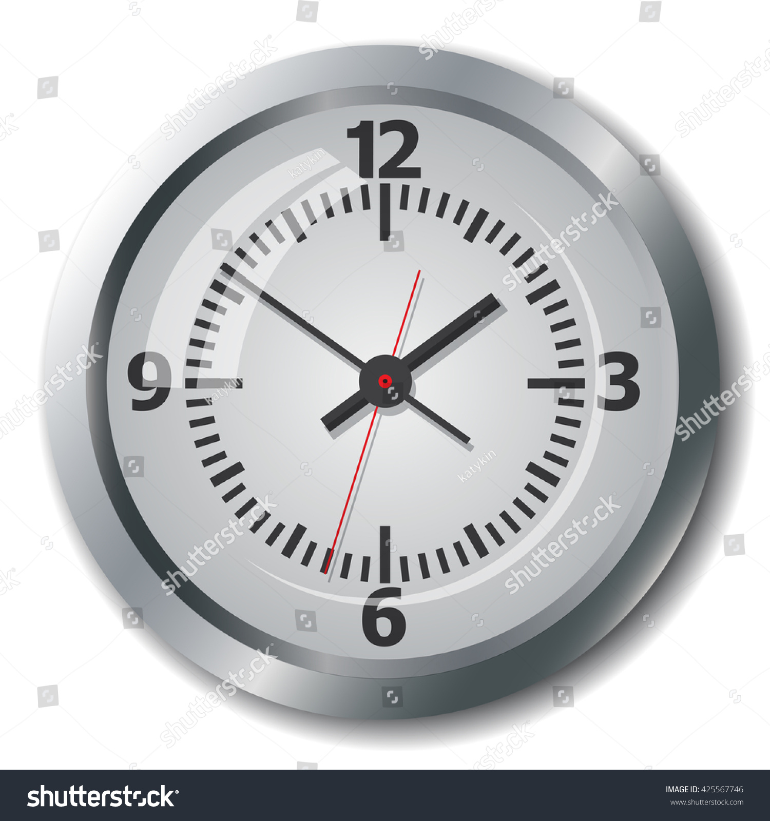 Clock time image clock face device stock vector 425567746 clock time image of clock face the device displays the hours minutes amipublicfo Image collections