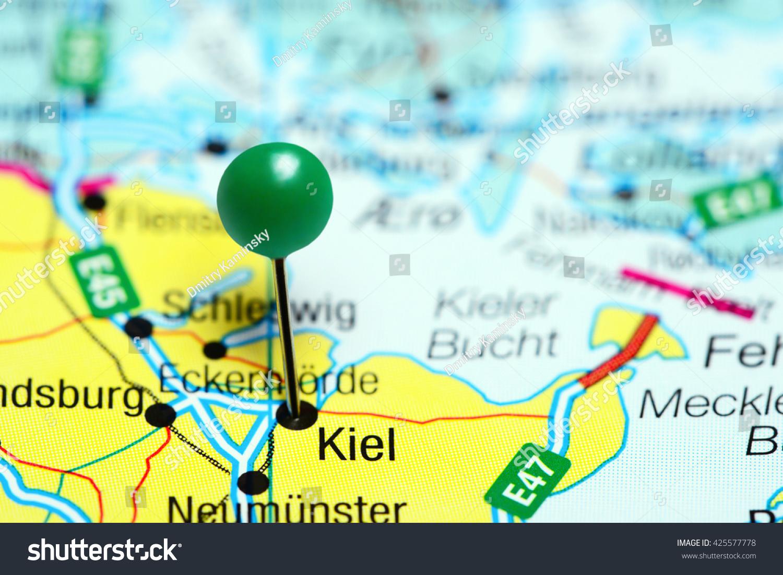 Kiel Pinned On Map Germany Stock Photo 425577778 Shutterstock