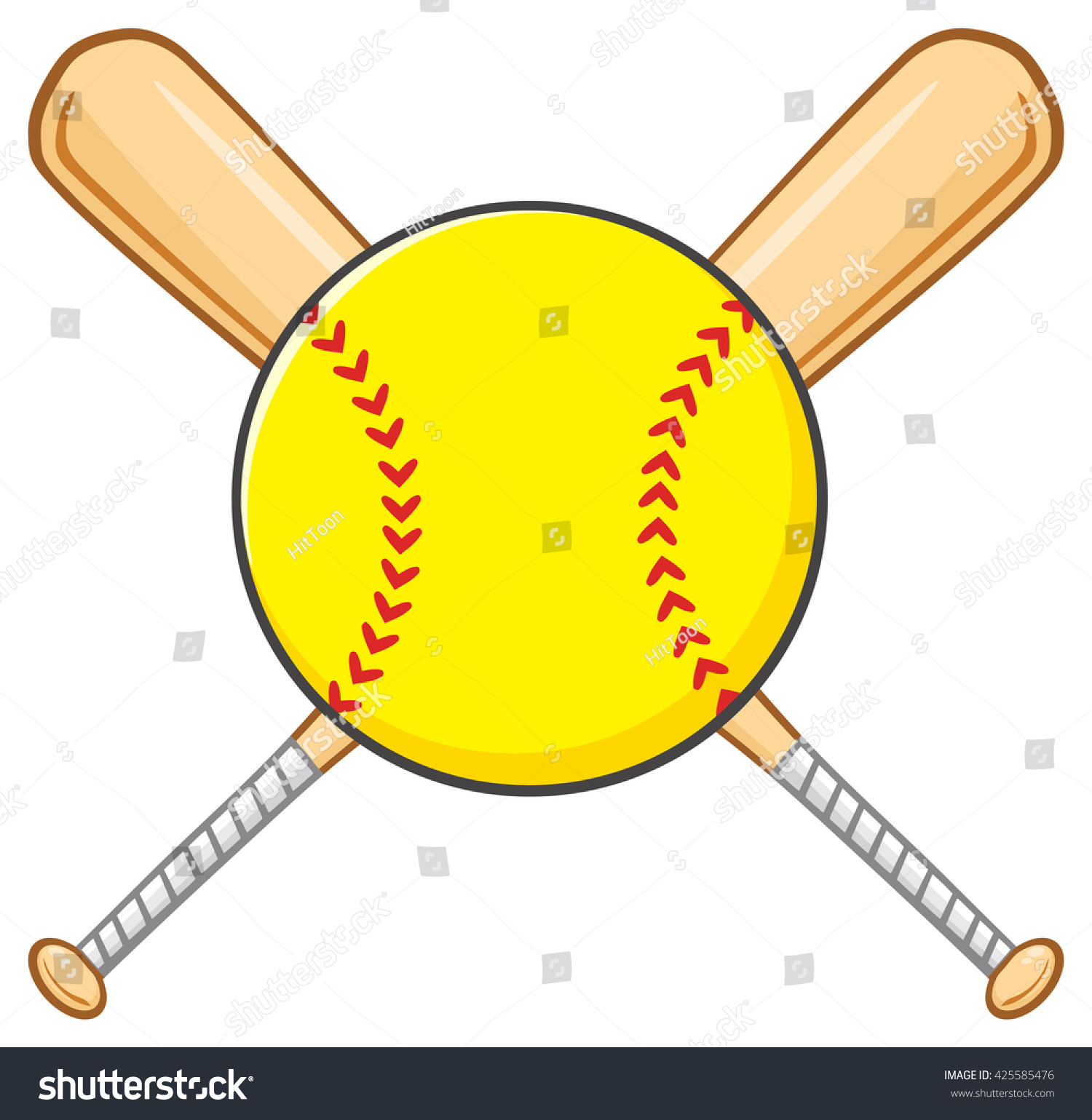 yellow softball vector www pixshark com images Baseball Bat Vector crossed softball bats clipart