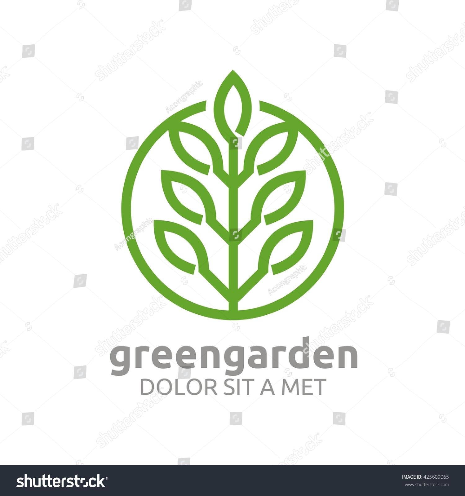 green garden natural ecology abstract design stock vector