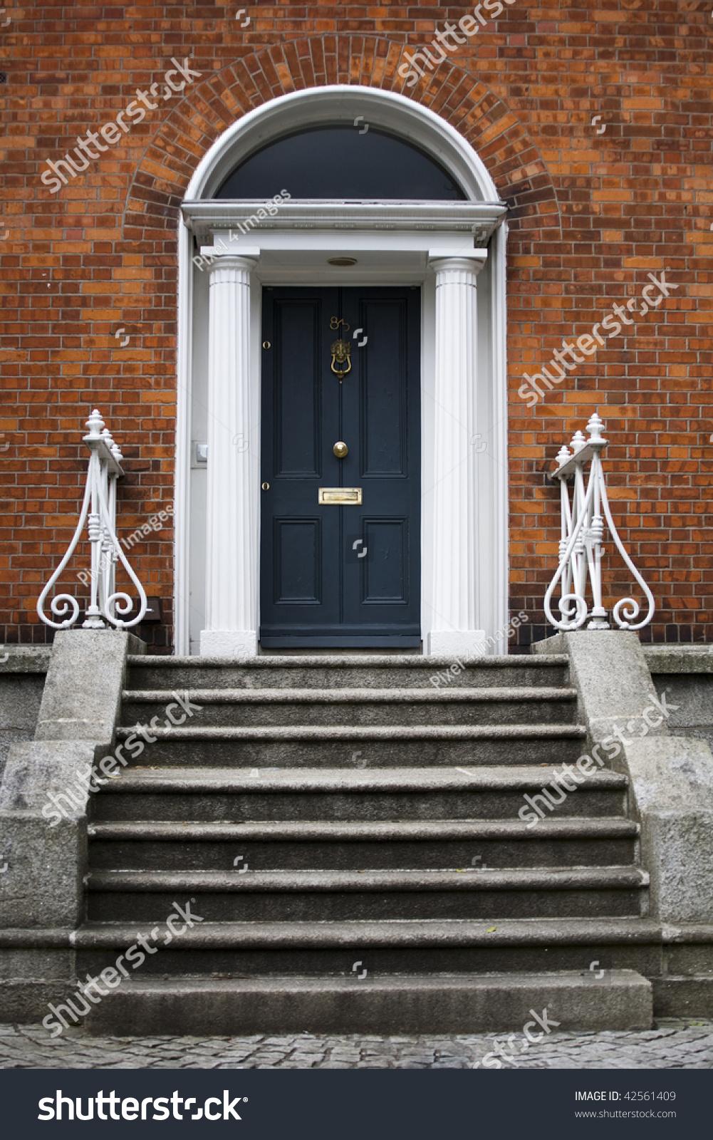 Traditional House Entrance Door London England Stock Photo ...