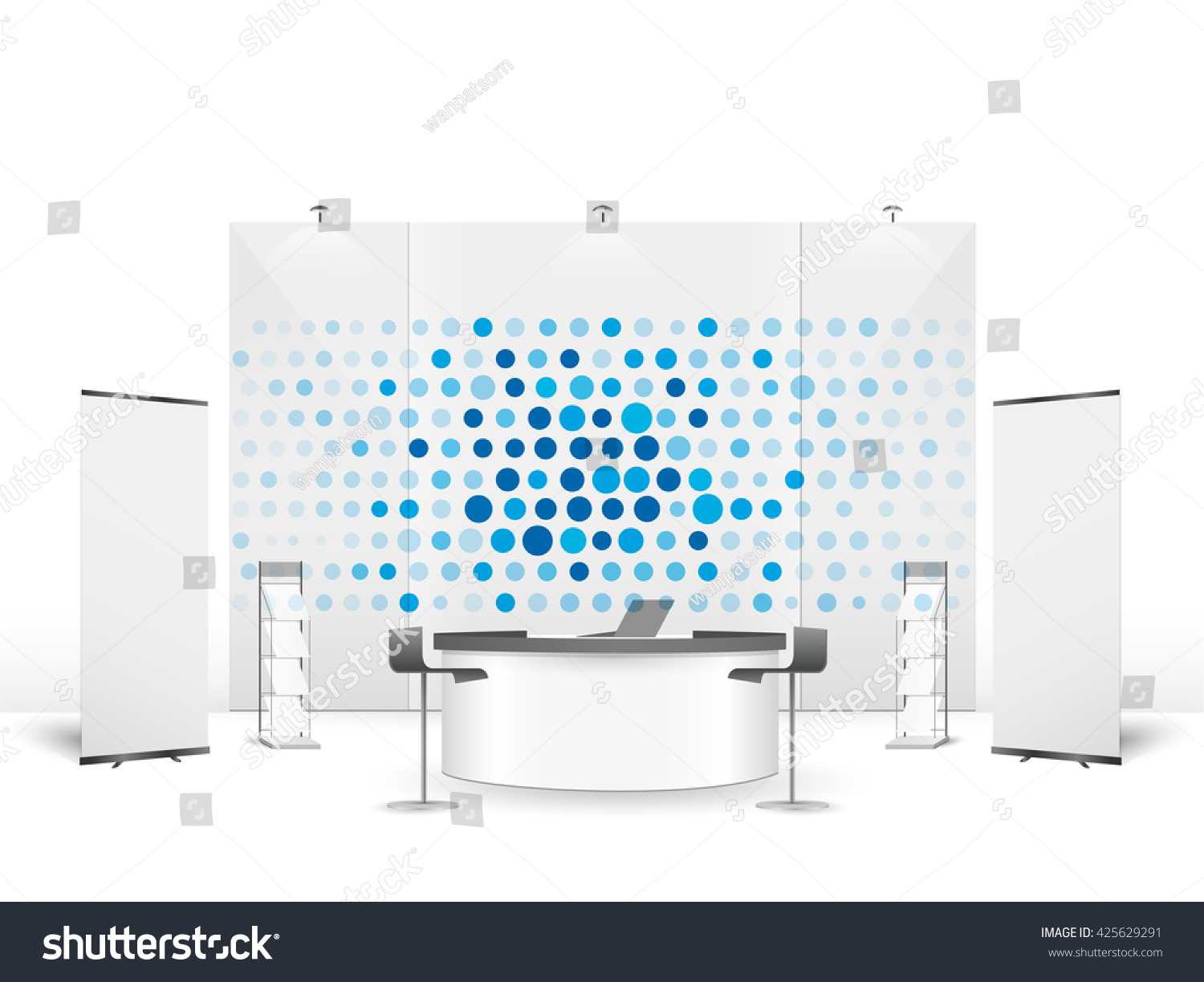 Exhibition Stand Design Vector : White creative exhibition stand design booth 스톡 벡터