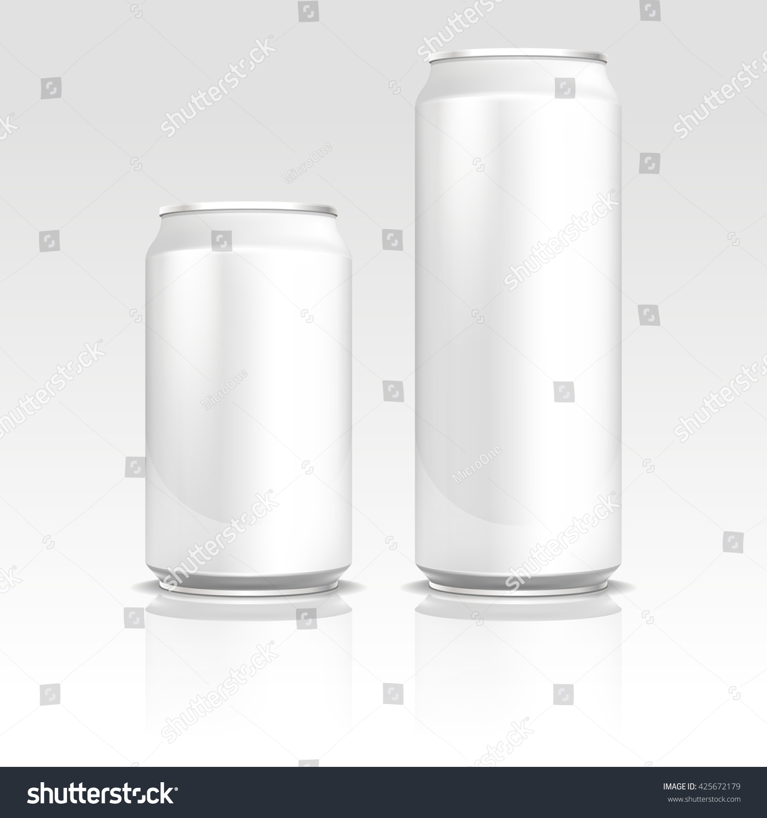aluminum energy drink soda beer cans stock vector royalty free