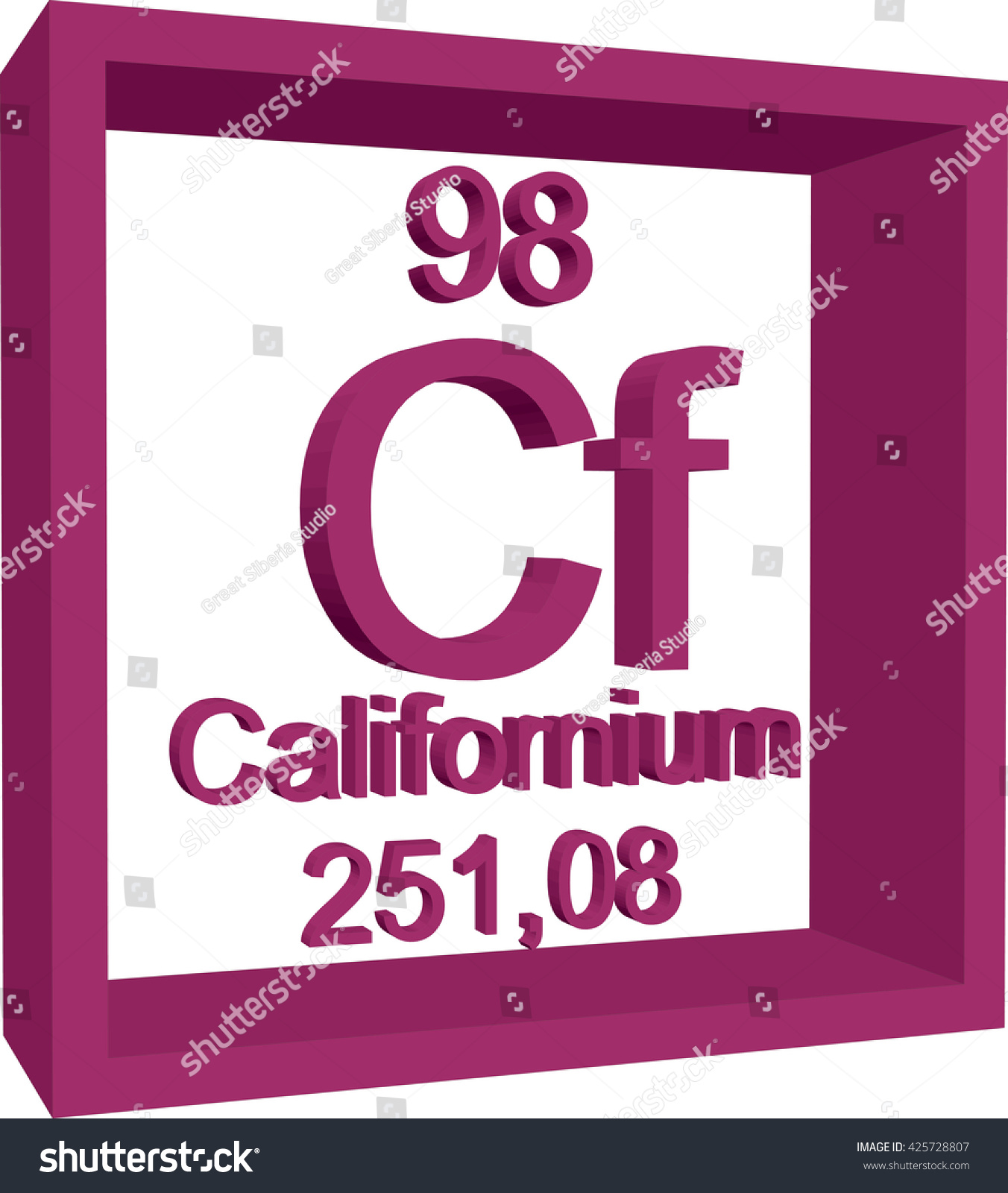Periodic table elements californium stock vector 425728807 periodic table of elements californium gamestrikefo Images