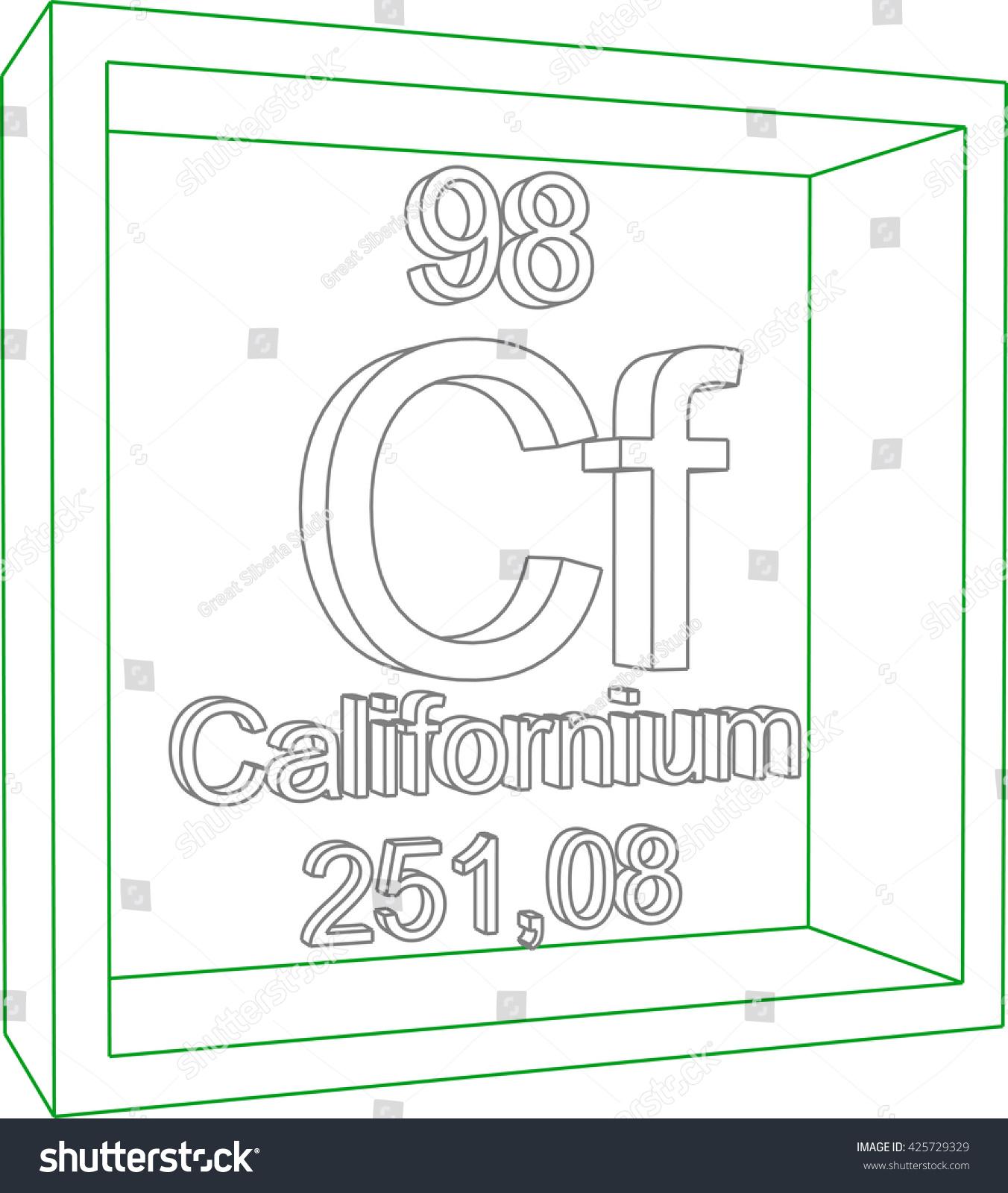 Periodic table elements californium stock vector 425729329 periodic table of elements californium gamestrikefo Images