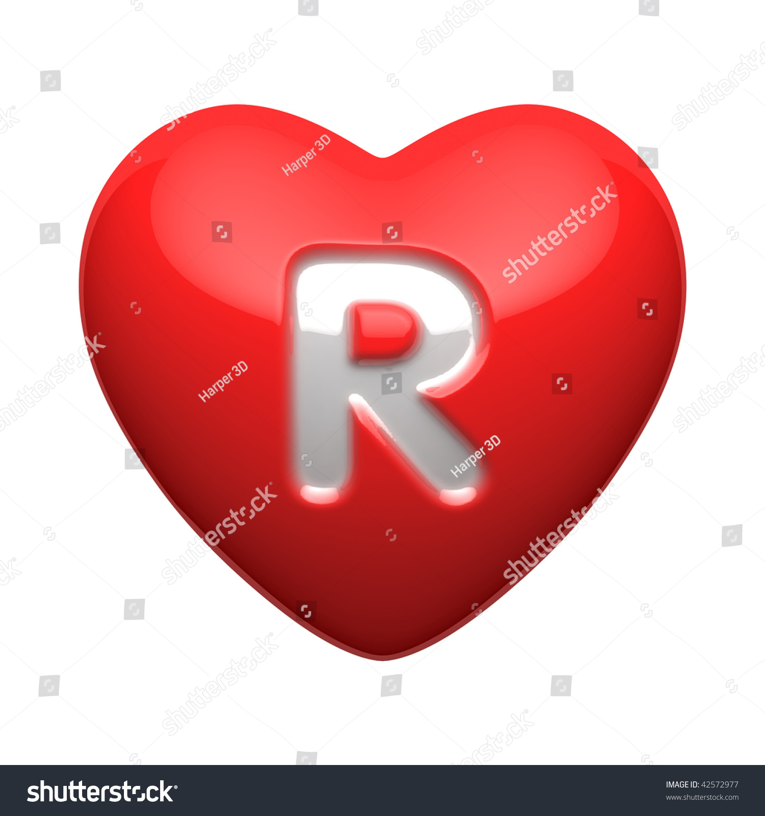 Letter R Alphabet Hearts There Clipping Stock Illustration ...
