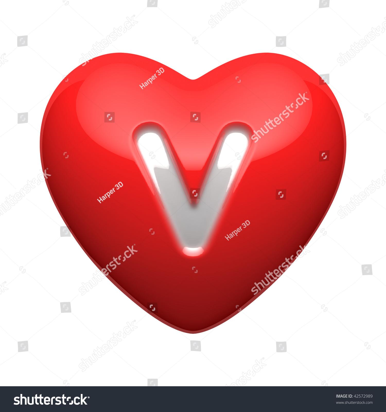 letter v in heart wwwpixsharkcom images galleries