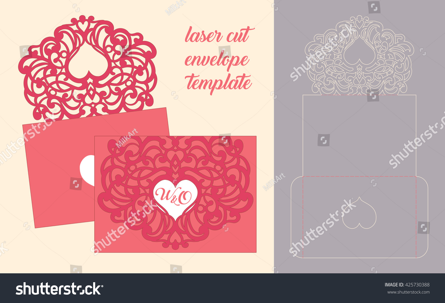 Wedding Invitation Greeting Card Abstract Ornament Stock Vector ...
