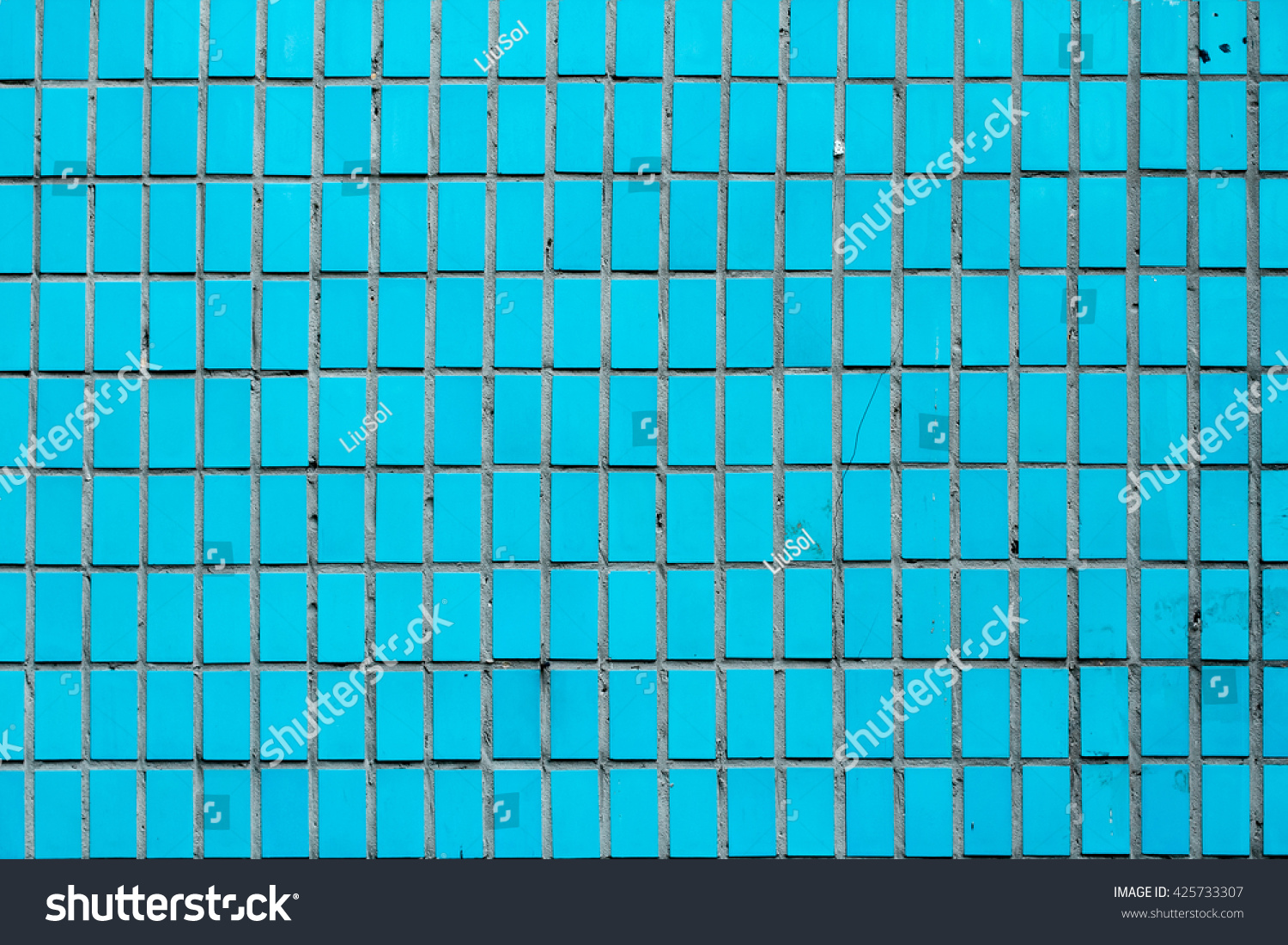 Vintage Old Blue Turquoise Tiles On Stock Photo 425733307 - Shutterstock
