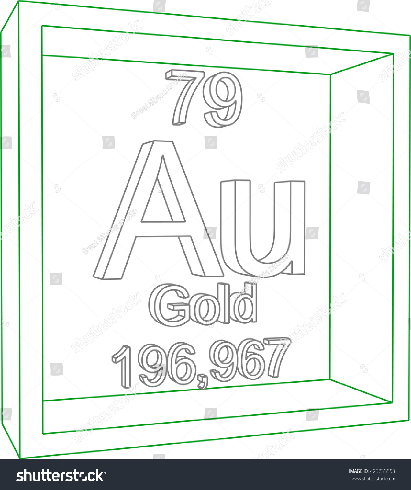Periodic table elements gold stock vector 425733553 shutterstock periodic table of elements gold urtaz Gallery