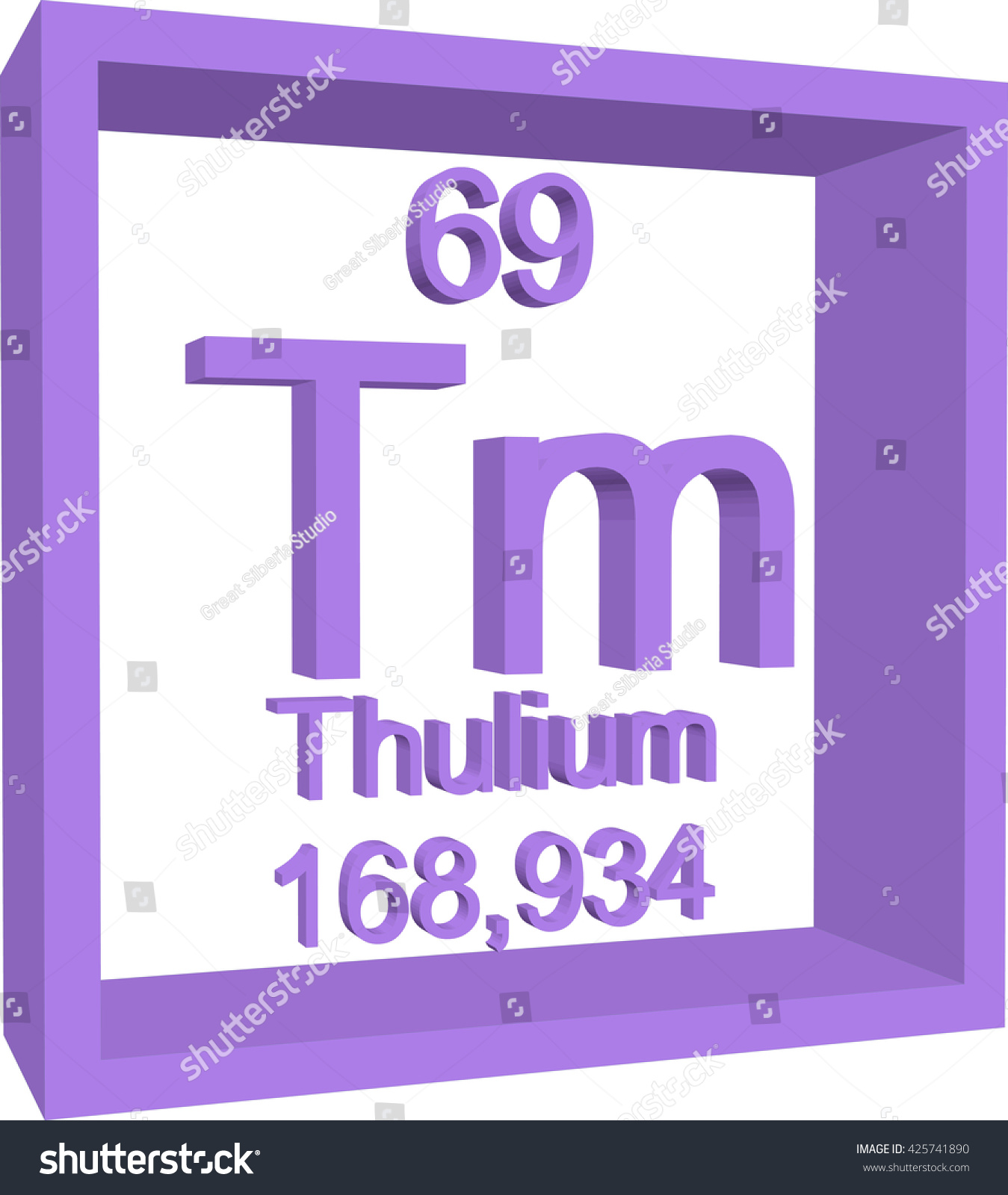 Periodic table elements thulium stock vector 425741890 shutterstock periodic table of elements thulium gamestrikefo Gallery