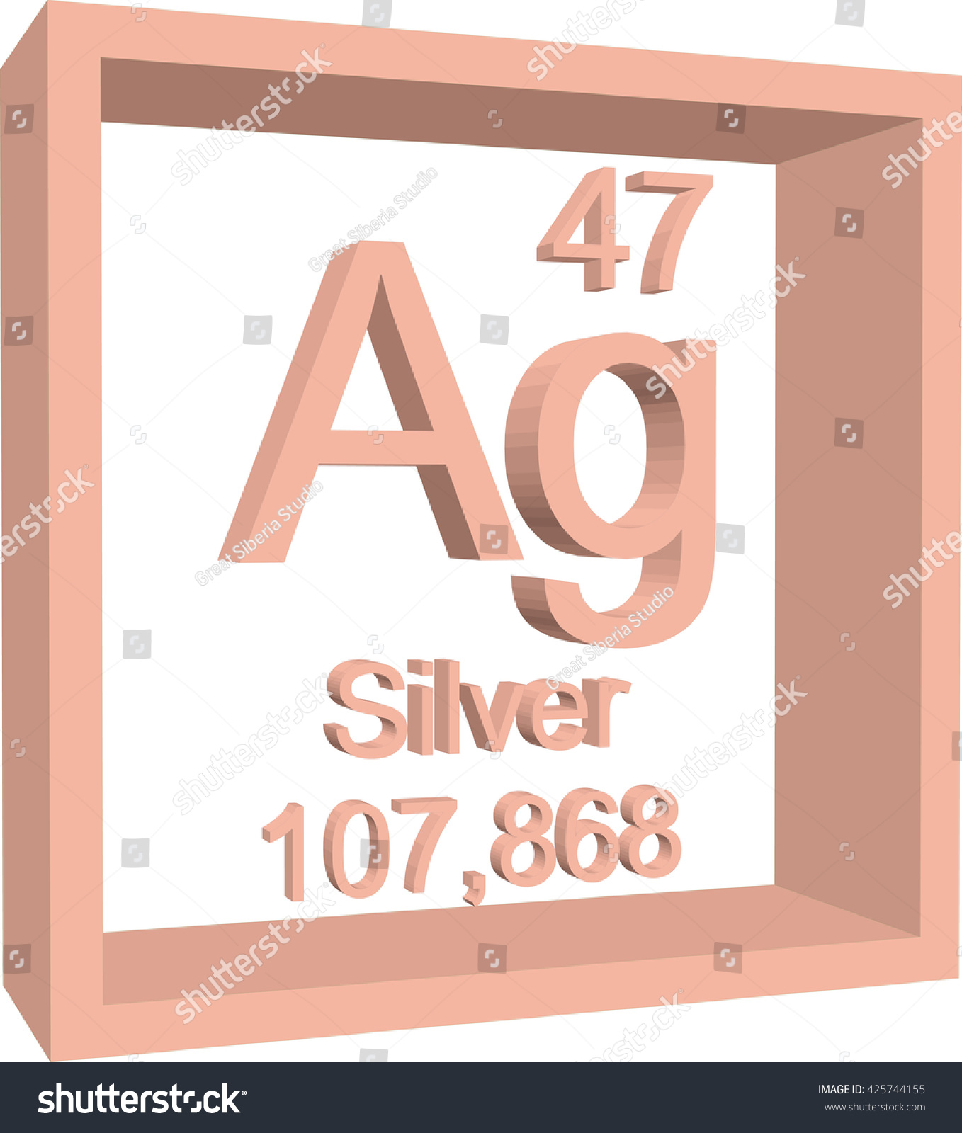 Periodic table elements silver stock vector 425744155 shutterstock periodic table of elements silver urtaz Gallery