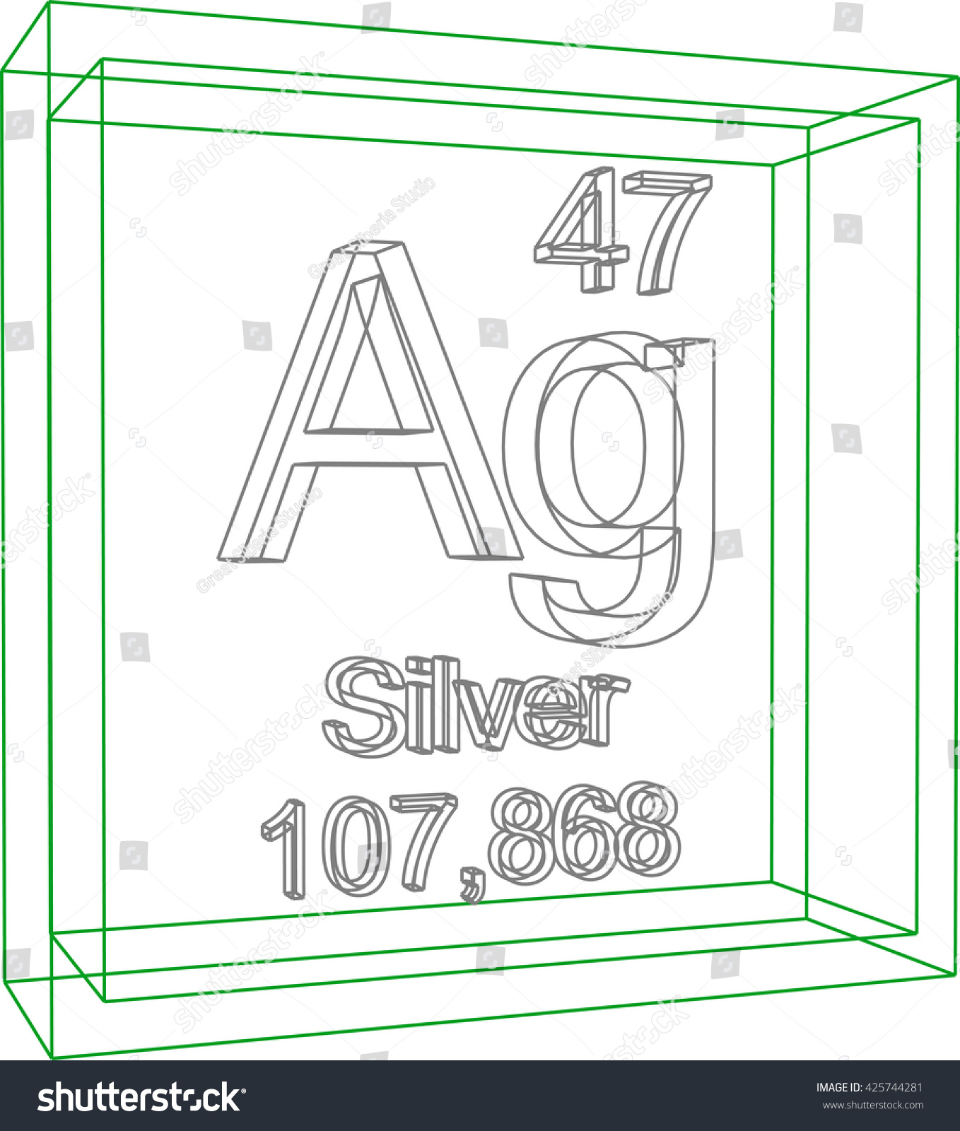 Periodic table elements silver stock vector 425744281 shutterstock periodic table of elements silver urtaz Gallery