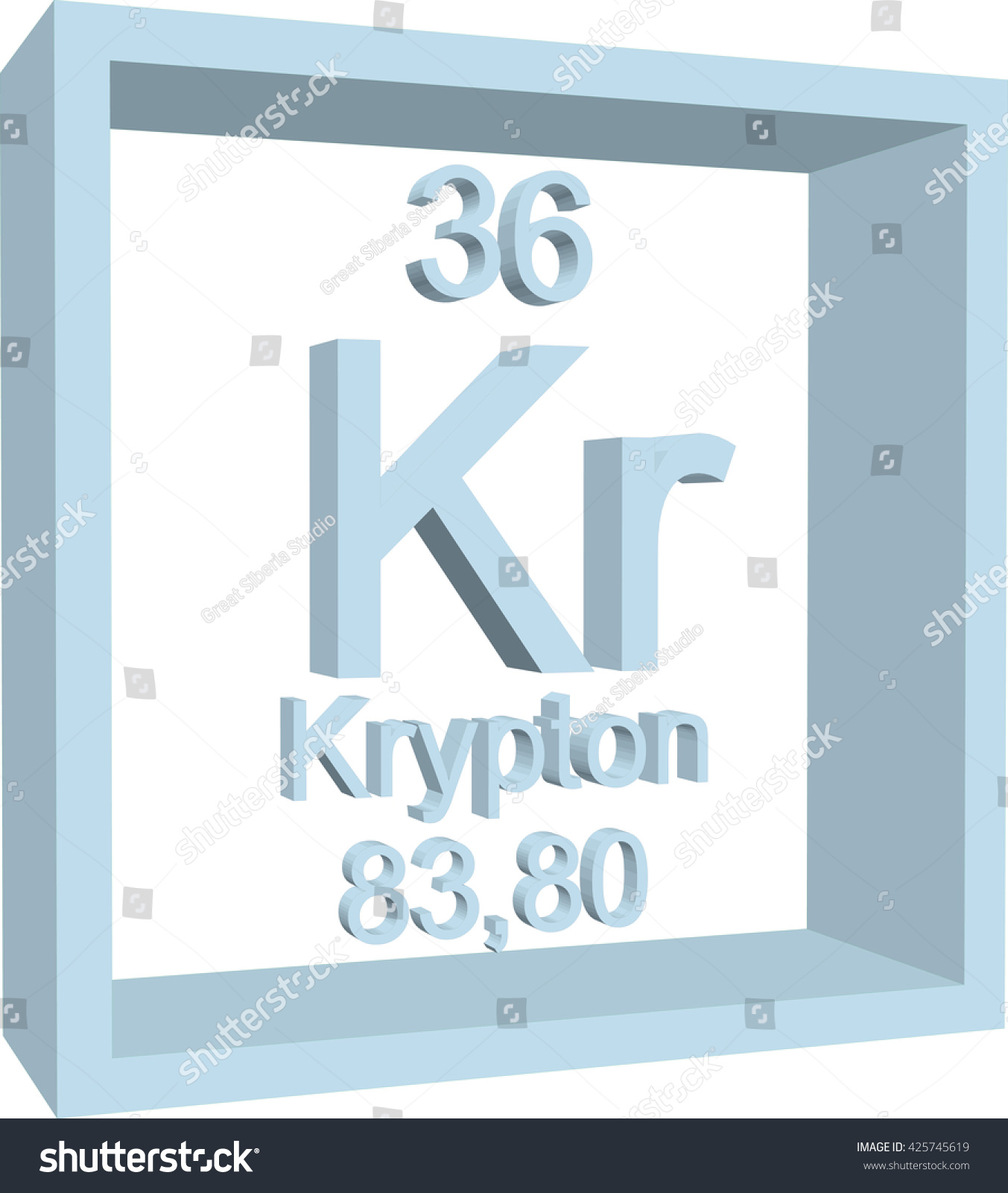 Periodic table elements krypton stock vector 425745619 shutterstock urtaz