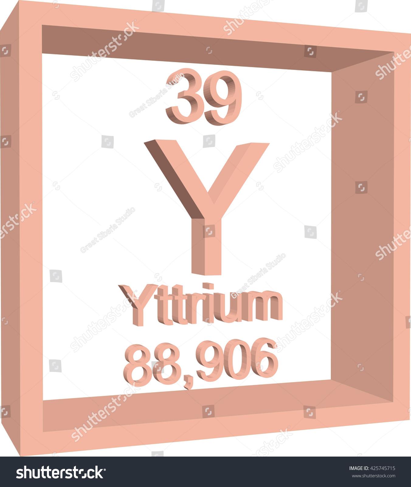 Periodic Table Elements Yttrium Stock Vector 425745715 ...