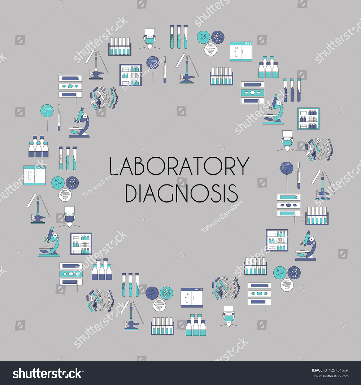 Healthcare Poster Banner Template Clinical Laboratory Stock Vector ...