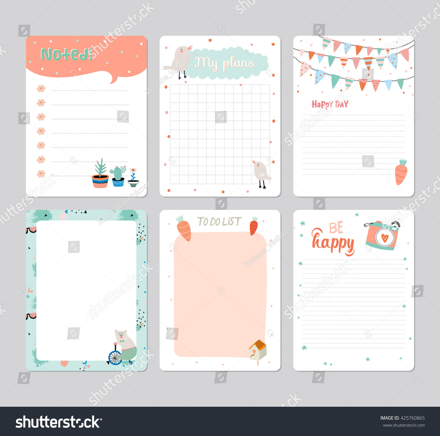 Cute Daily Planner Templates | www.galleryhip.com - The Hippest Pics