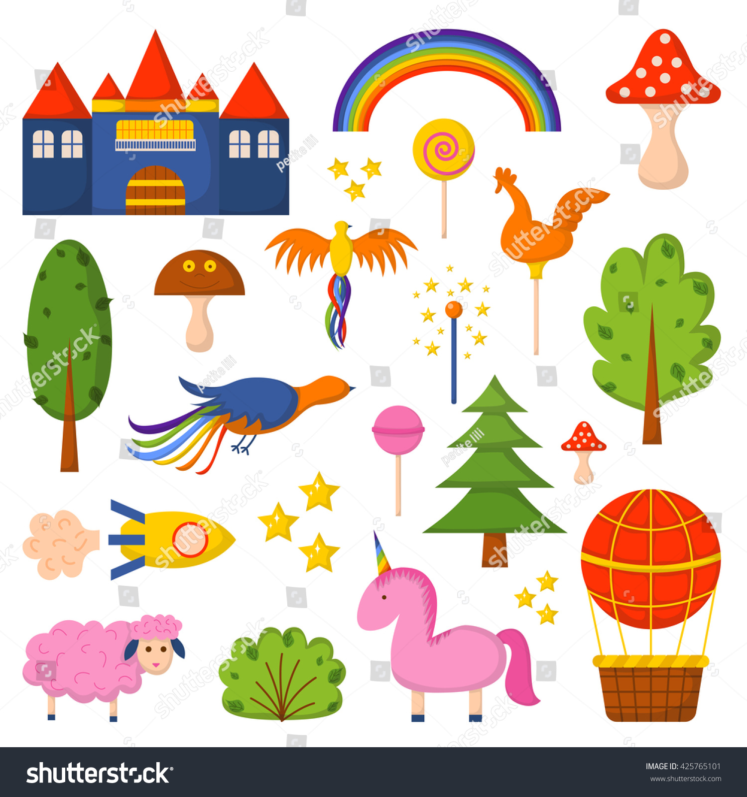 Children Book Cover Vector ~ Vector illustration cute colorful cartoon fantasy stock